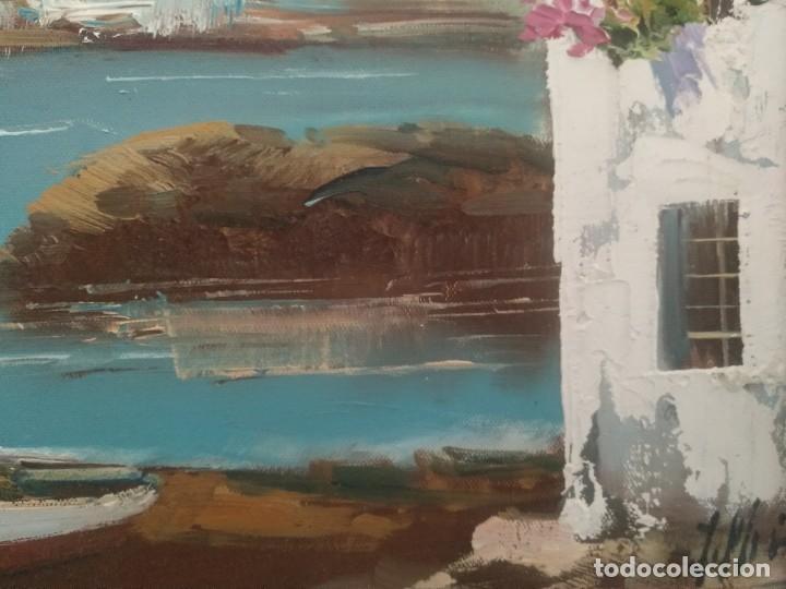 J. MIR ÓLEO SOBRE LIENZO PAISAJE (Arte - Pintura - Pintura al Óleo Contemporánea )