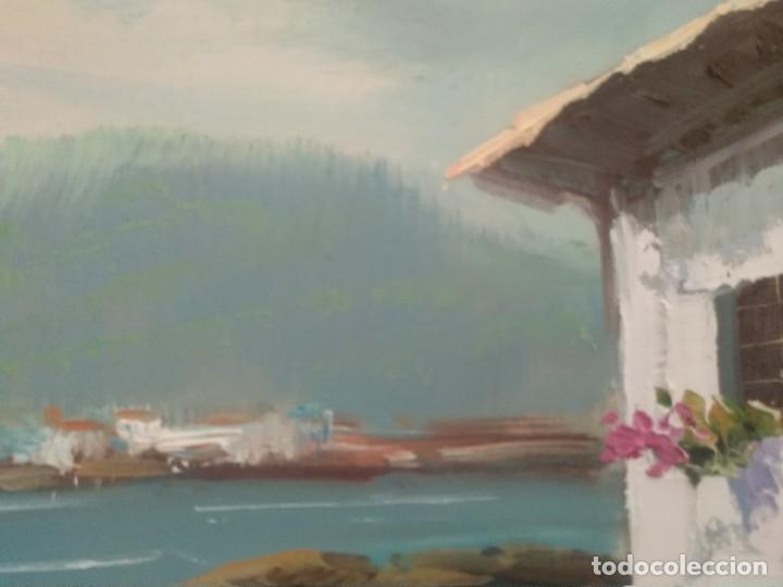 Arte: J. MIR Óleo sobre lienzo paisaje - Foto 2 - 205601150