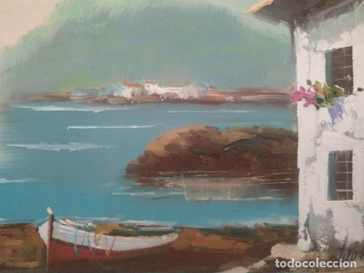 Arte: J. MIR Óleo sobre lienzo paisaje - Foto 3 - 205601150