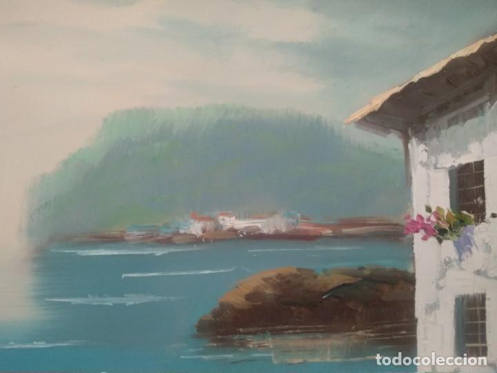 Arte: J. MIR Óleo sobre lienzo paisaje - Foto 4 - 205601150