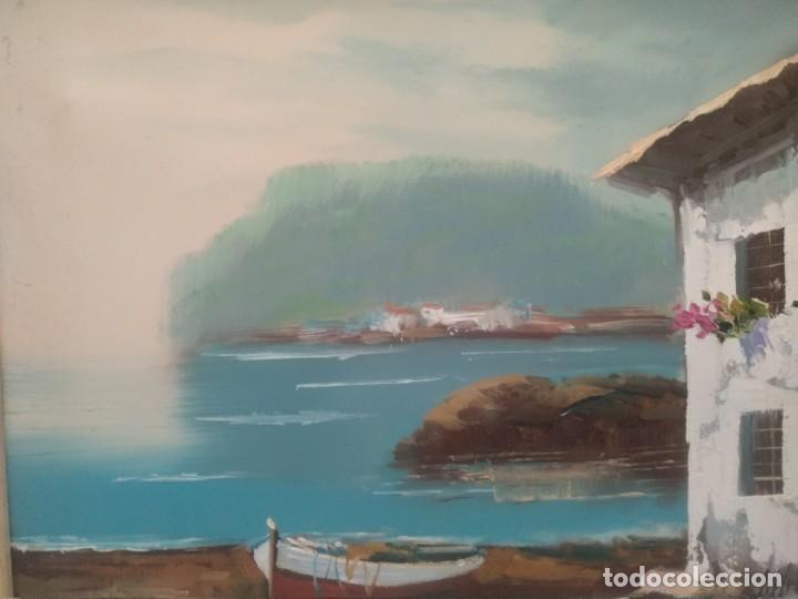 Arte: J. MIR Óleo sobre lienzo paisaje - Foto 5 - 205601150