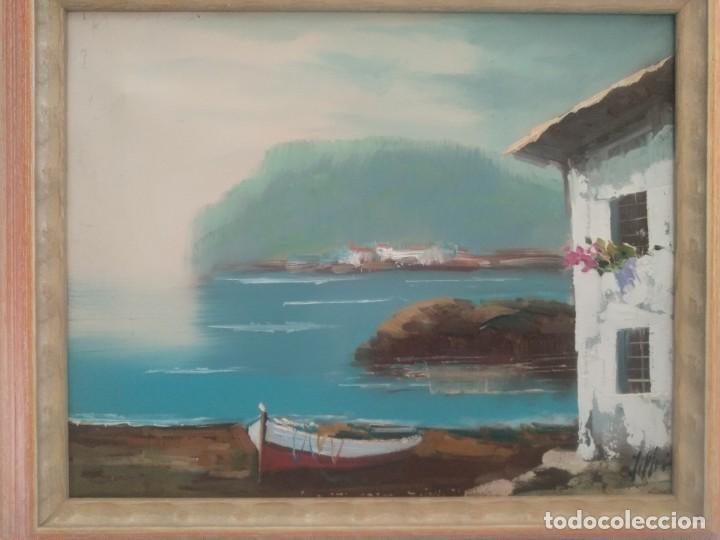 Arte: J. MIR Óleo sobre lienzo paisaje - Foto 6 - 205601150
