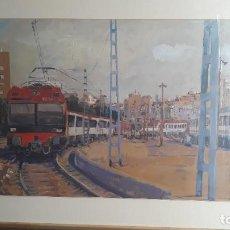 Arte: PINTURA AL OLEO SOBRE CARTON,PINTOR JUAN RIVES COLL,1946-. Lote 205642983