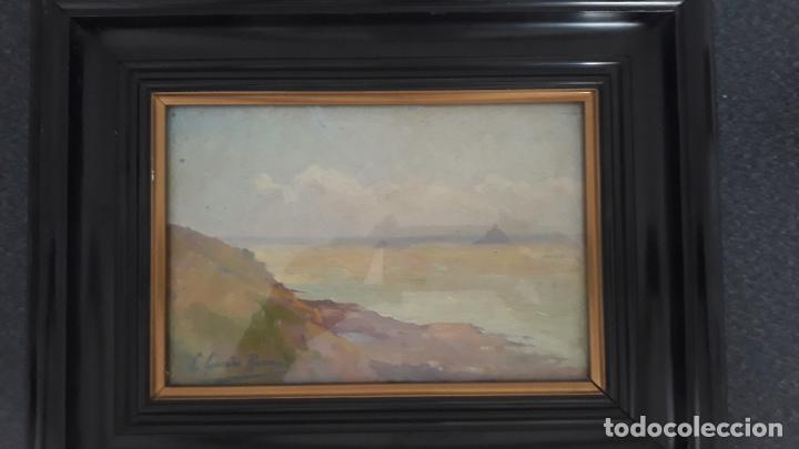 Arte: pintura al oleo sobre lienzo,leopoldo garcia ramon,discipulo de sorolla,vista de javea? - Foto 3 - 205644755