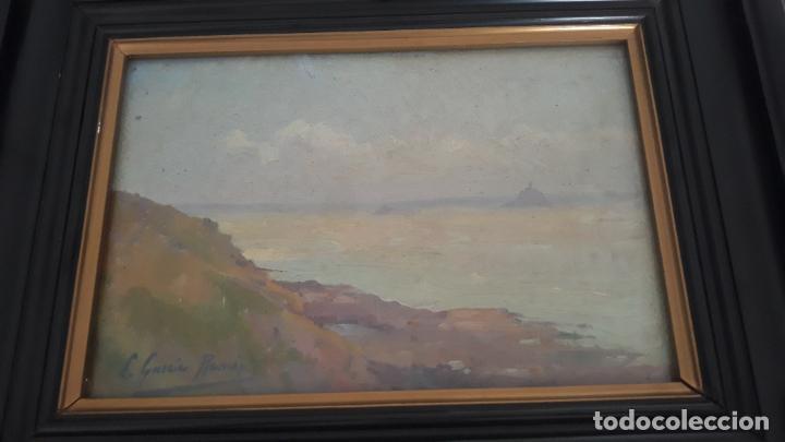 Arte: pintura al oleo sobre lienzo,leopoldo garcia ramon,discipulo de sorolla,vista de javea? - Foto 5 - 205644755