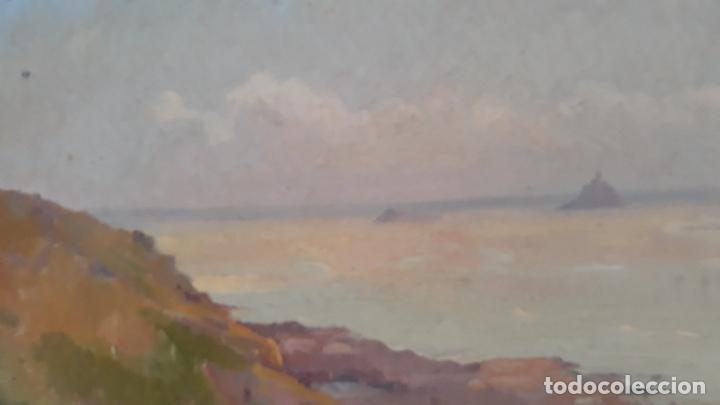 Arte: pintura al oleo sobre lienzo,leopoldo garcia ramon,discipulo de sorolla,vista de javea? - Foto 6 - 205644755