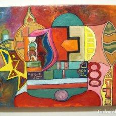 Arte: PINTURA AL OLEO. LA MASQUINA Y EL LIMON. Lote 205650206