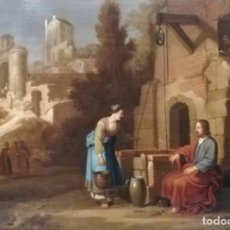 Arte: NICOLAES MOEYAERT (AMSTERDAM 1592/3-1655). JESÚS Y LA SAMARITANA. Lote 205676762