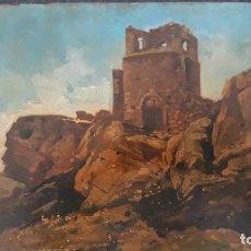 Arte: PAREJA DE OLEOS SOBRE TABLA,TERUEL,CASTILLO DE CEDRILLAS,FIRMADAS FRANCISCO GARCIA MARCO,. Lote 205690128