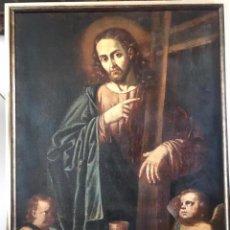 Arte: CRISTO SALVADOR. O/L. SIGLO XVII. Lote 205698442