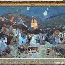 Arte: GRAN ÓLEO SOBRE TELA DE - JOSEP SERRASANTA ( 1916 - 1998)- PAISAJE - 146 X 115 CM. Lote 205706860