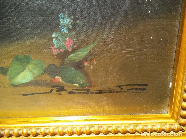 Arte: Pintura oleo sobre lienzo de un bodegón de flores, firmado. 100 x 78 ctms - Foto 2 - 205720852