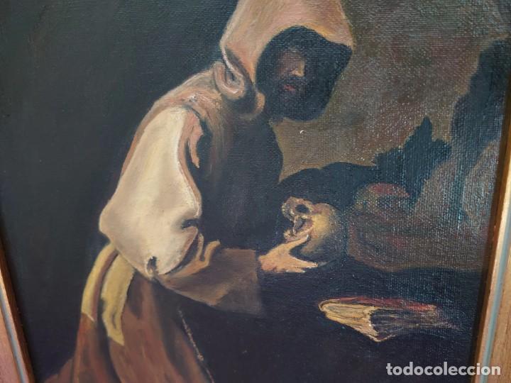 Arte: ÓLEO SOBRE LIENZO COPIA DE ZURBARÁN POR MARÍA TERESA SÁNCHEZ - Foto 3 - 205740623