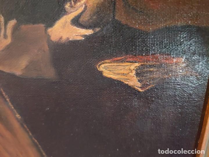 Arte: ÓLEO SOBRE LIENZO COPIA DE ZURBARÁN POR MARÍA TERESA SÁNCHEZ - Foto 5 - 205740623