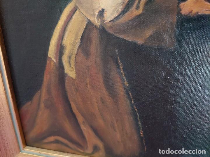 Arte: ÓLEO SOBRE LIENZO COPIA DE ZURBARÁN POR MARÍA TERESA SÁNCHEZ - Foto 7 - 205740623
