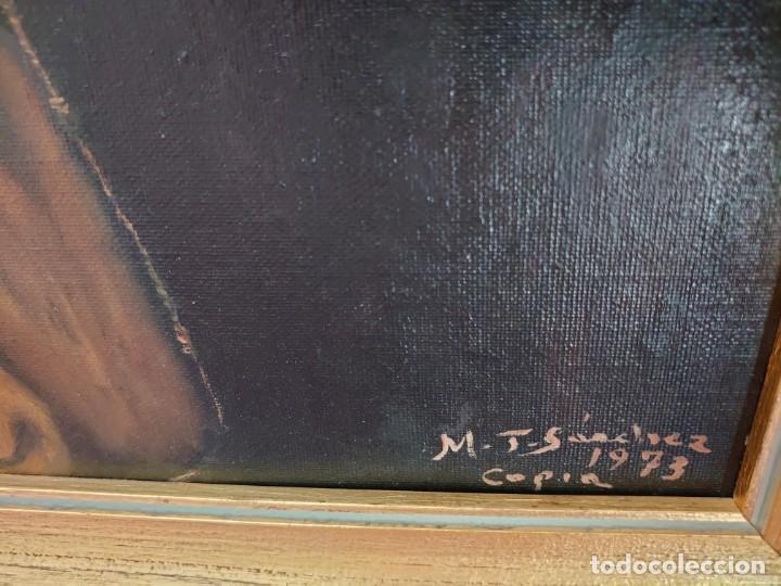 Arte: ÓLEO SOBRE LIENZO COPIA DE ZURBARÁN POR MARÍA TERESA SÁNCHEZ - Foto 9 - 205740623
