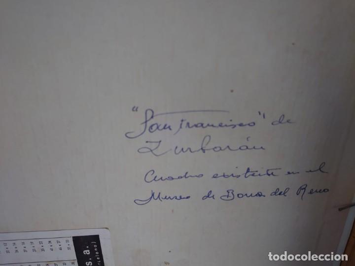 Arte: ÓLEO SOBRE LIENZO COPIA DE ZURBARÁN POR MARÍA TERESA SÁNCHEZ - Foto 10 - 205740623