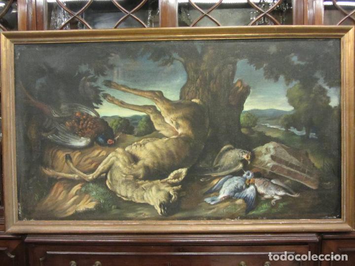 Arte: Bodegon de caza, s.XVIII-XIX, Oleo sobre tela - Foto 2 - 205772068