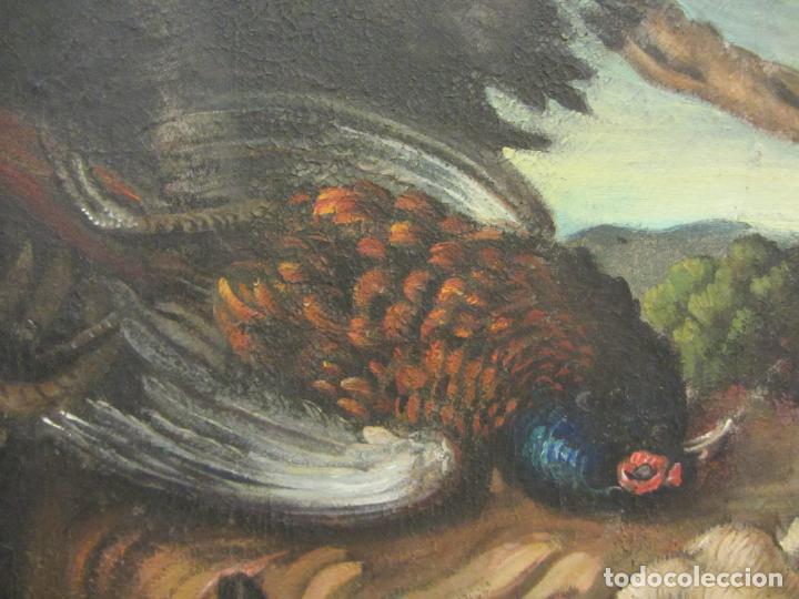 Arte: Bodegon de caza, s.XVIII-XIX, Oleo sobre tela - Foto 4 - 205772068