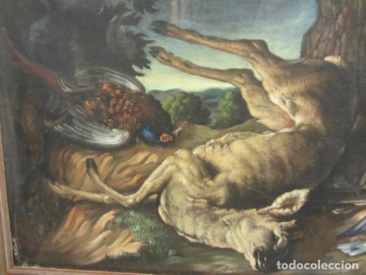 Arte: Bodegon de caza, s.XVIII-XIX, Oleo sobre tela - Foto 5 - 205772068