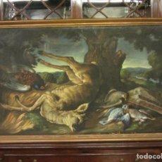 Arte: BODEGON DE CAZA, S.XVIII-XIX, OLEO SOBRE TELA. Lote 205772068