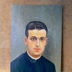 Arte: CUADRO PINTURA 1938 JOSE GRAU - CURA O PARROCO - GUERRA CIVIL. Lote 205786903