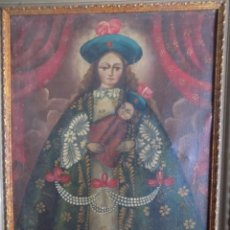 Arte: LIBRERIA GHOTICA. EXCELENTE VIRGEN DE ESCUELA COLONIAL DE FINALES DEL SIGLO XVIII. 60 X 40 CM.. Lote 205816260