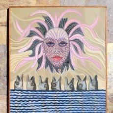 Arte: PINTURA SURREALISTA - MOSCARDO MELIX - ÓLEO SOBRE LIENZO - MEDUSA Y PECES - OBRA FIRMADA - EXTRAÑO. Lote 205817572