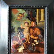 Arte: SAN JOSÉ CON EL NIÑO JESÚS Y SAN JUANITO. SS. XVIII-XIX... Lote 205831597
