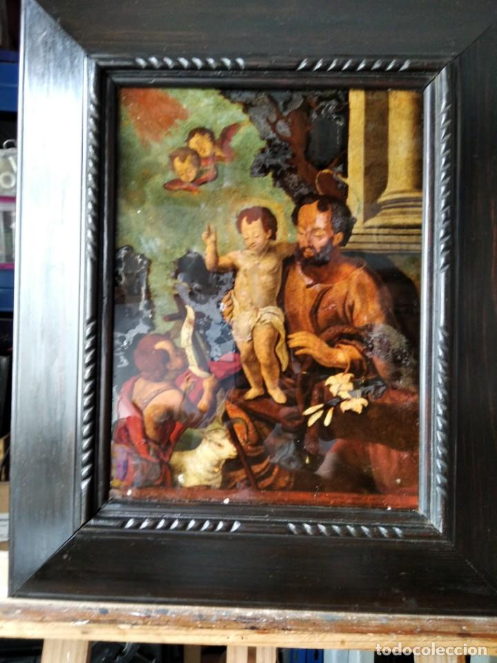 Arte: SAN JOSÉ CON EL NIÑO JESÚS Y SAN JUANITO. SS. XVIII-XIX.. - Foto 2 - 205831597