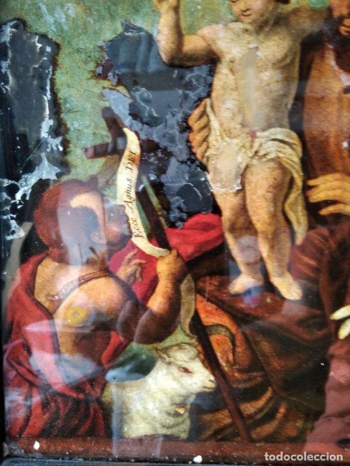 Arte: SAN JOSÉ CON EL NIÑO JESÚS Y SAN JUANITO. SS. XVIII-XIX.. - Foto 3 - 205831597