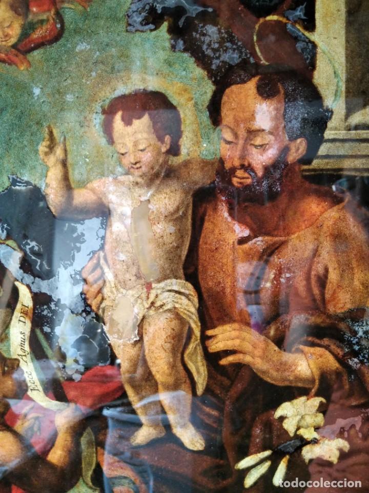 Arte: SAN JOSÉ CON EL NIÑO JESÚS Y SAN JUANITO. SS. XVIII-XIX.. - Foto 6 - 205831597