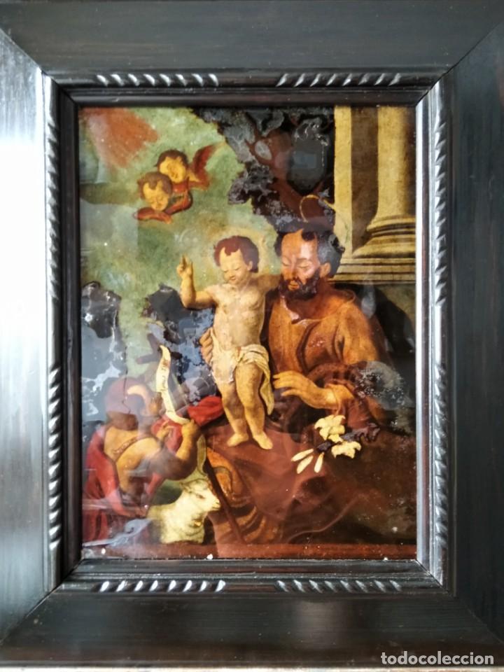 Arte: SAN JOSÉ CON EL NIÑO JESÚS Y SAN JUANITO. SS. XVIII-XIX.. - Foto 7 - 205831597