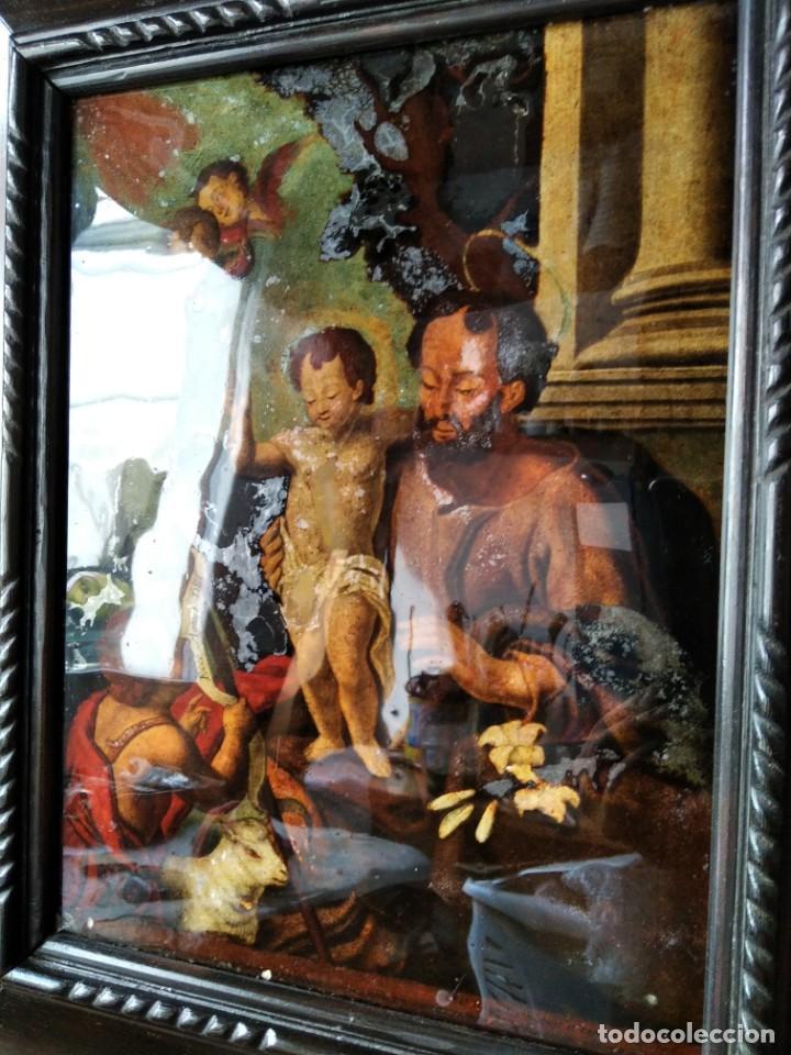 Arte: SAN JOSÉ CON EL NIÑO JESÚS Y SAN JUANITO. SS. XVIII-XIX.. - Foto 8 - 205831597