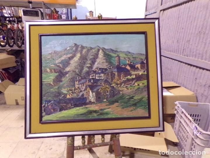 GRAN OLEO PASTEL DE PUEBLO VALL DE ARAN GRAN MEDIDA (Arte - Pintura - Pintura al Óleo Moderna sin fecha definida)