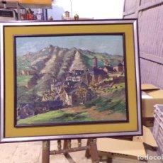 Arte: GRAN OLEO PASTEL DE PUEBLO VALL DE ARAN GRAN MEDIDA. Lote 205834353
