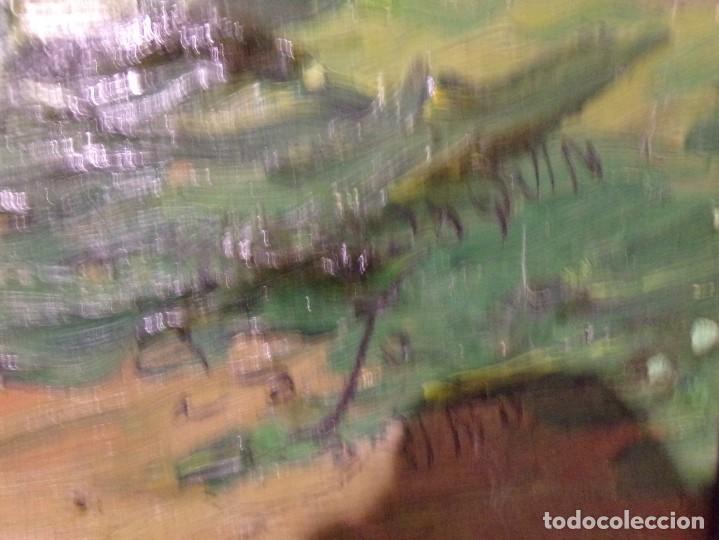 Arte: gran oleo pastel de pueblo vall de aran gran medida - Foto 4 - 205834353