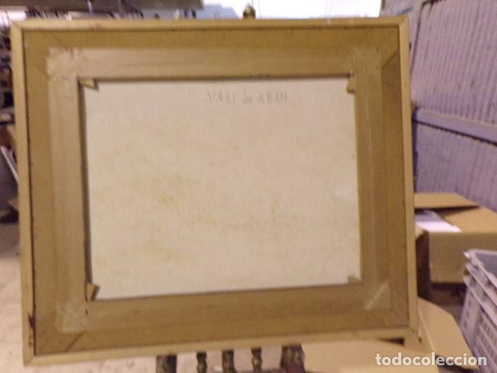 Arte: gran oleo pastel de pueblo vall de aran gran medida - Foto 6 - 205834353