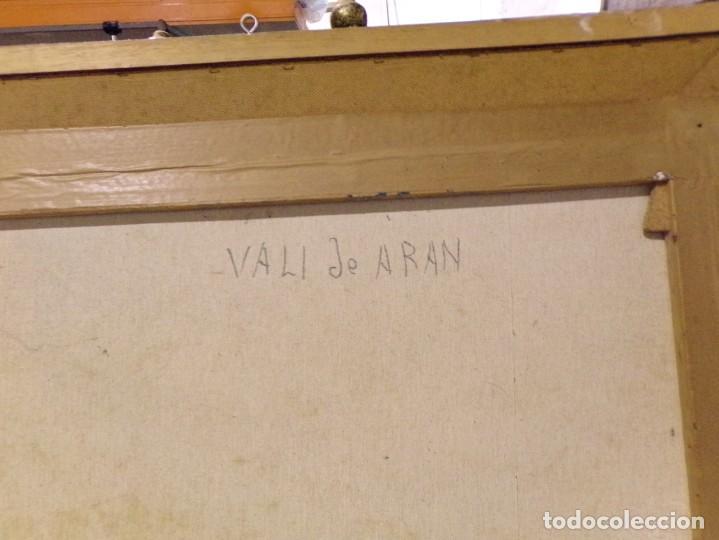 Arte: gran oleo pastel de pueblo vall de aran gran medida - Foto 7 - 205834353