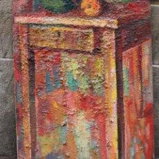 Arte: PINTURA ABSTRACTA, ARTISTA POR IDENTIFICAR, 1998, LA POBLA DE SEGUR. 81,5X65CM. Lote 205902327