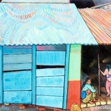 Arte: CASAS DE NEPAL - EL CAMINO DE POKHARA. Lote 206129886