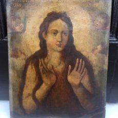 Arte: ESCUELA ESPAÑOLA Ó ITALIANA FINES SIGLO XVI PPOS. SIGLO XVII: ÁNIMA EN EL PURGATORIO. Lote 206220525