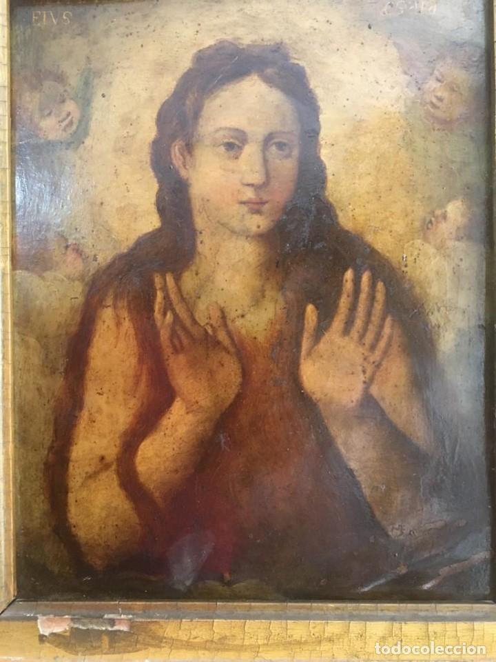 Arte: ESCUELA ESPAÑOLA Ó ITALIANA FINES SIGLO XVI PPOS. SIGLO XVII: ÁNIMA EN EL PURGATORIO - Foto 2 - 206220525
