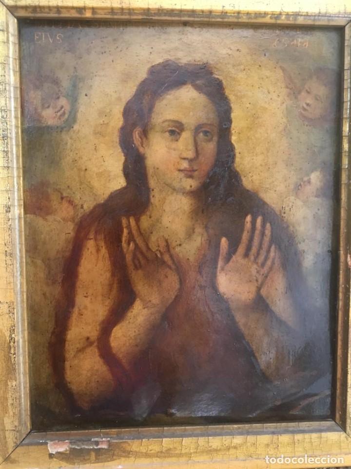 Arte: ESCUELA ESPAÑOLA Ó ITALIANA FINES SIGLO XVI PPOS. SIGLO XVII: ÁNIMA EN EL PURGATORIO - Foto 3 - 206220525