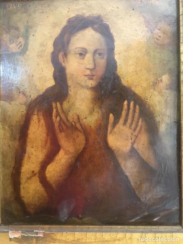 Arte: ESCUELA ESPAÑOLA Ó ITALIANA FINES SIGLO XVI PPOS. SIGLO XVII: ÁNIMA EN EL PURGATORIO - Foto 4 - 206220525