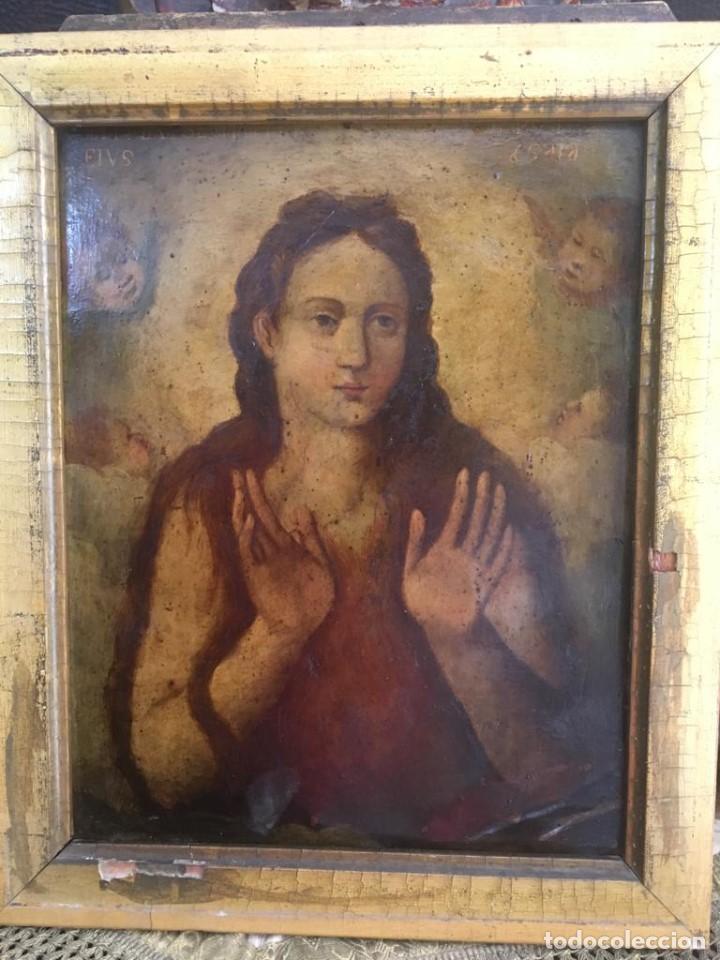 Arte: ESCUELA ESPAÑOLA Ó ITALIANA FINES SIGLO XVI PPOS. SIGLO XVII: ÁNIMA EN EL PURGATORIO - Foto 5 - 206220525
