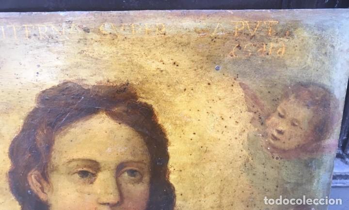 Arte: ESCUELA ESPAÑOLA Ó ITALIANA FINES SIGLO XVI PPOS. SIGLO XVII: ÁNIMA EN EL PURGATORIO - Foto 15 - 206220525