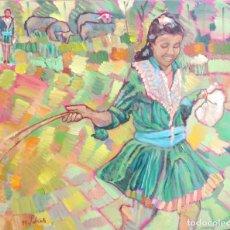 Arte: PASTORCILLA NEPALÍ DEL CAMINO DE POKHARA. Lote 206238467