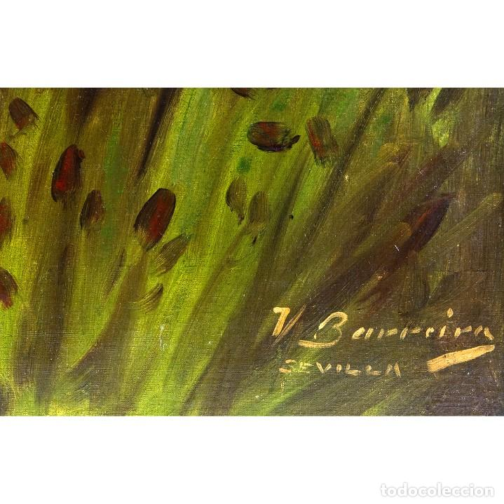 """Arte: VICENTE BARREIRA. Óleo sobre lienzo. """"""""Retrato de Dama"""" - Foto 4 - 206258900"""
