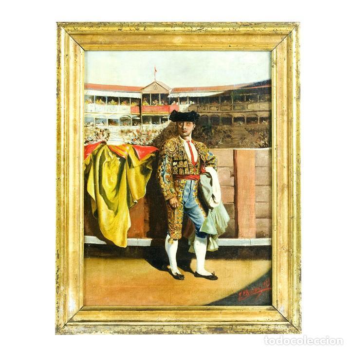 "L. CHACÓN (SIGLO XIX). ÓLEO SOBRE LIENZO. ""TORERO"" (Arte - Pintura - Pintura al Óleo Antigua sin fecha definida)"